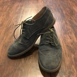 Worn once. Men's Calvin Klein suede shoes.